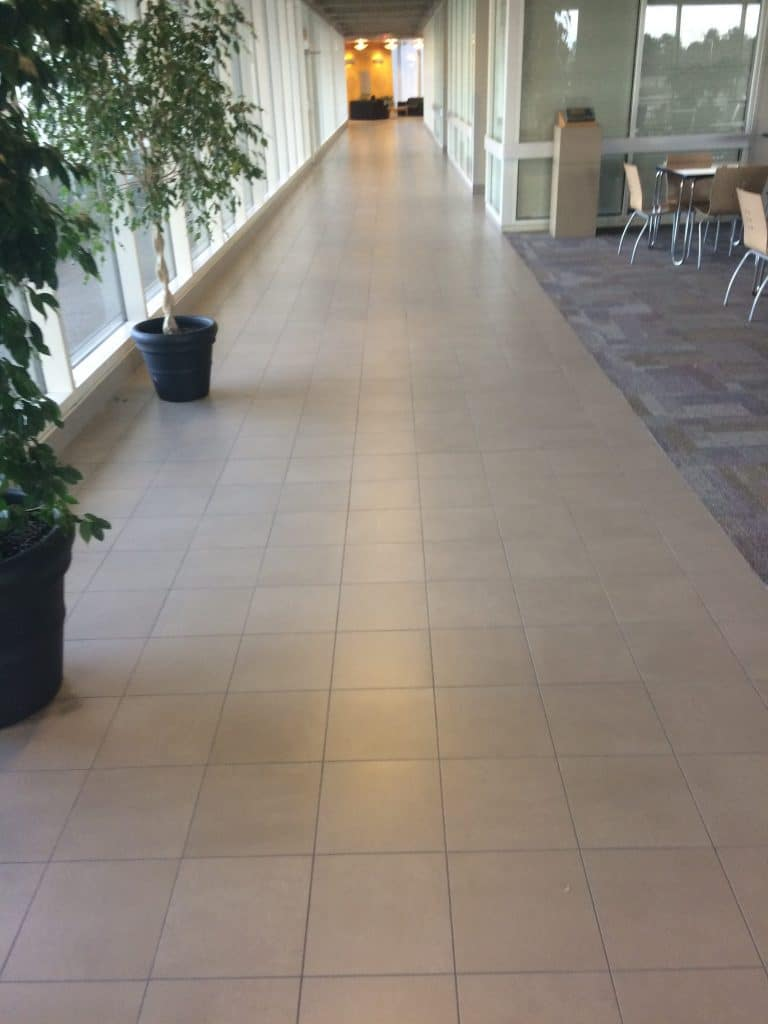 commercial hallway tile installer