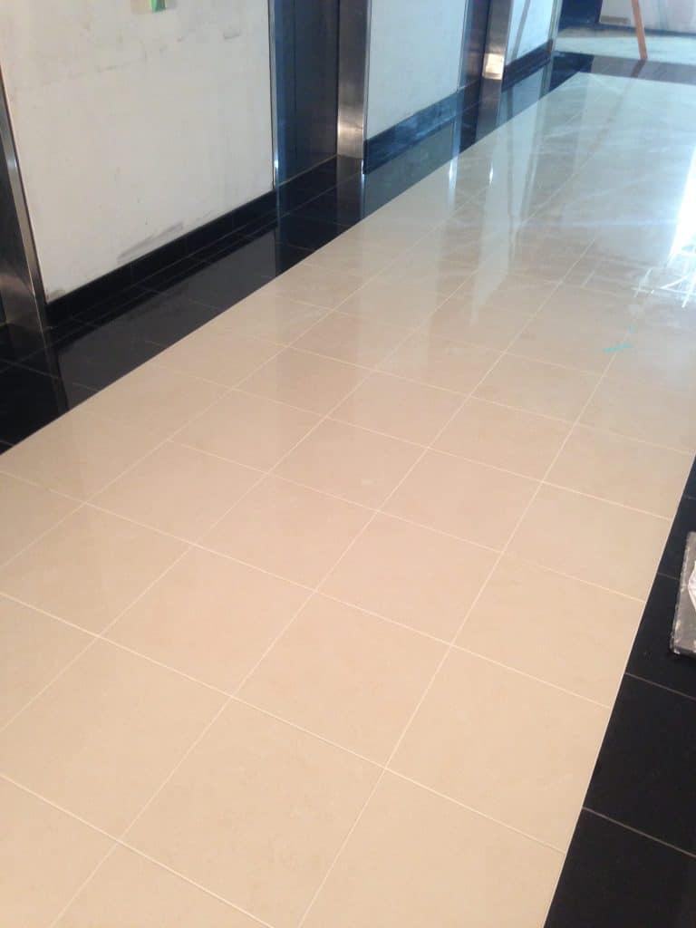 elevator lobby tile floor installer
