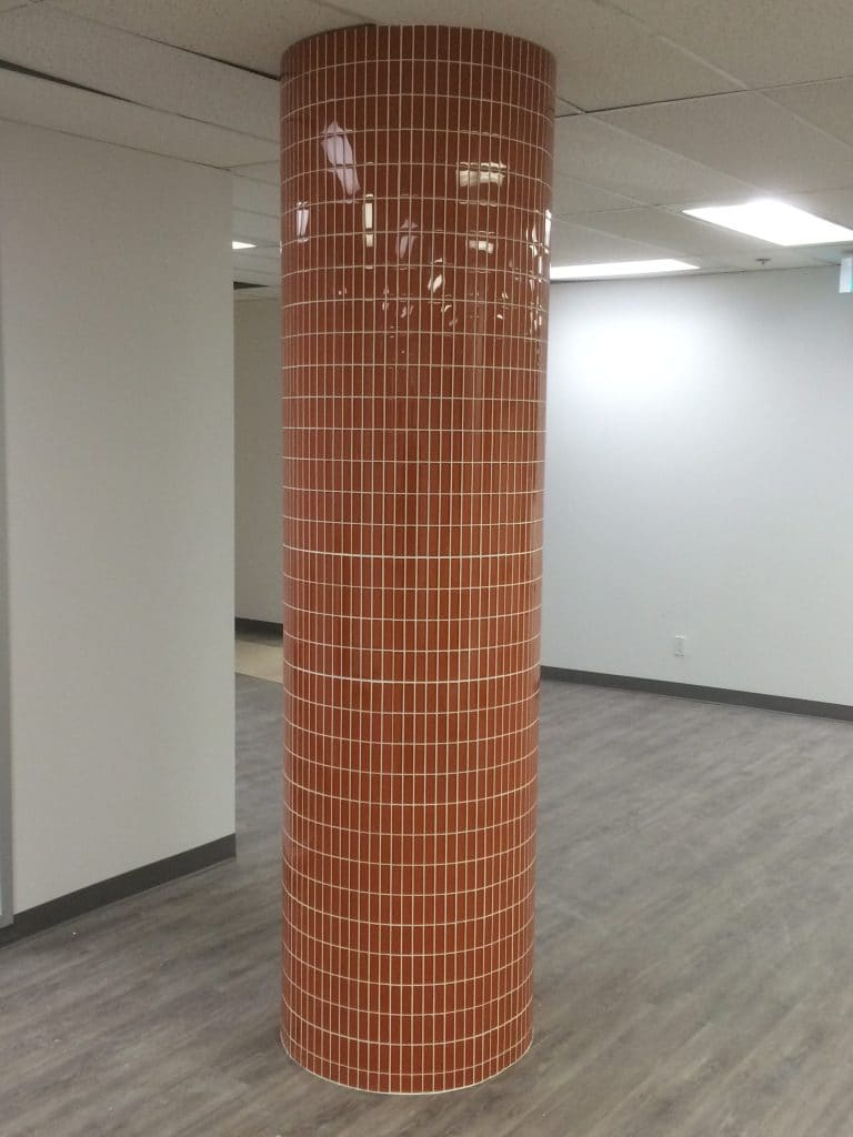 Glass Mosaic Column installer